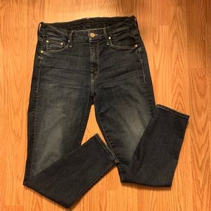 Mother Looker Crop NWOT On the Edge Wash size 27